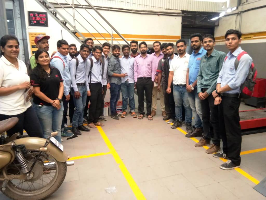 Visit to Royal enfield service centre