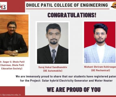 DPCoE students registered patent for their project